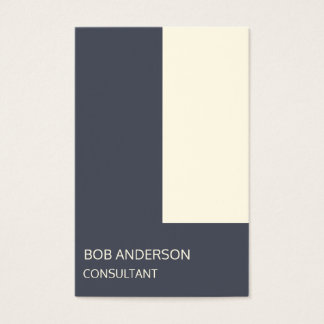 Trendy Consultant Indigo Ivory Architectural Business Card