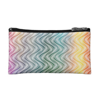 Trendy Cool Colors Abstract Art Cosmetics Bags