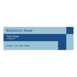 trendy cool colors blue business card