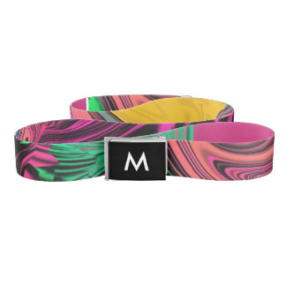 Trendy Cool Colourful Belt With Monogram