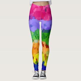 Trendy Cool Watercolor Splash Leggings