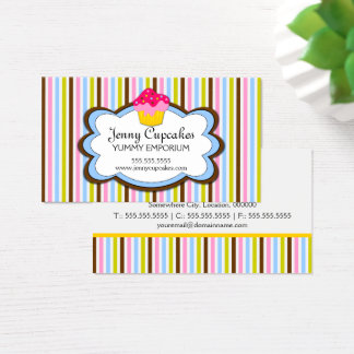 Trendy Cupcake Bakery Business Card