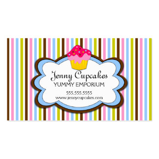 Trendy Cupcake Bakery Business Cards
