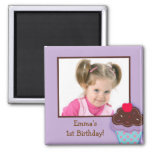 Trendy Cupcake Birthday Party Favour Magnets