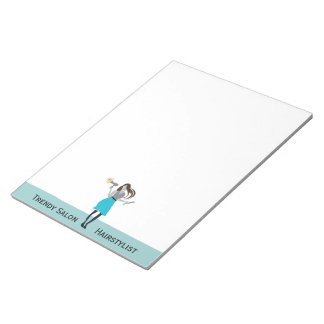 Trendy Curls Beauty Fashion Woman Stylist Notepad