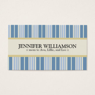 Trendy Customized Mommy Calling Cards Stripes : 05