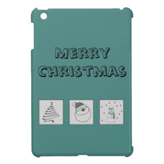 Trendy cute funny Christmas patchwork holiday iPad Mini Covers