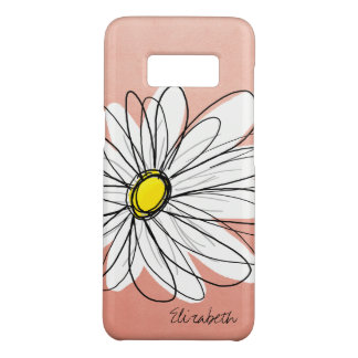 Trendy Daisy Floral Illustration - rose gold Case-Mate Samsung Galaxy S8 Case