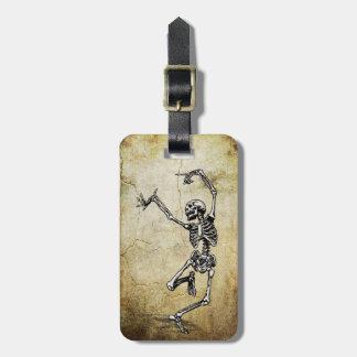 Trendy Dancing Skeleton Luggage Tag