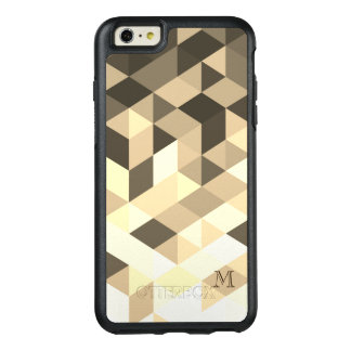 Trendy Dark Brown And Sepia Geometric Shapes OtterBox iPhone 6/6s Plus Case
