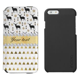 Trendy Deer Triangles Pattern and Diamonds Incipio Watson™ iPhone 6 Wallet Case