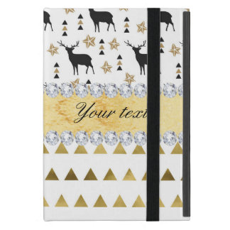 Trendy Deer Triangles Pattern and Diamonds iPad Mini Cover