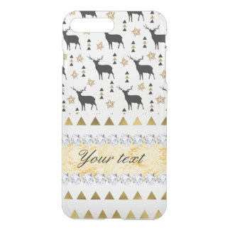 Trendy Deer Triangles Pattern and Diamonds iPhone 8 Plus/7 Plus Case