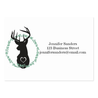 TRENDY DEER WITH HEARTS BUSINESS CARD TEMPLATE