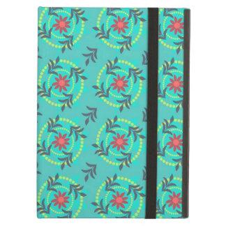 Trendy Designer Floral Pattern - Aqua Case For iPad Air