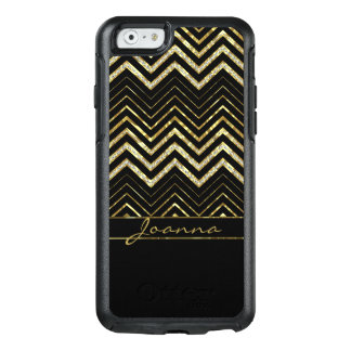 Trendy Diamonds And Gold Chevron Pattern OtterBox iPhone 6/6s Case