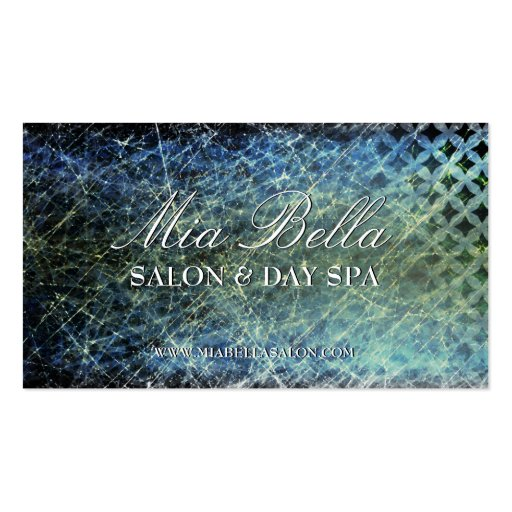 Trendy Distressed Salon & Spa Business Cards