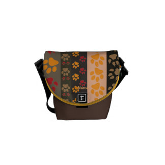 TRENDY Dog Paw Print Dog Walkers Bag Personalized Commuter Bag