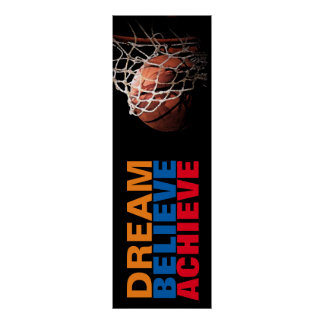 Trendy Dream Believe Achieve Basketball Door Poster