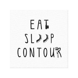 trendy eat sleep contour canvas gallery wrap canvas