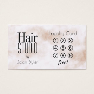 Trendy elegance giant letters business card