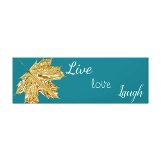 Trendy Elegant Fall Gold Leaf Wall Art