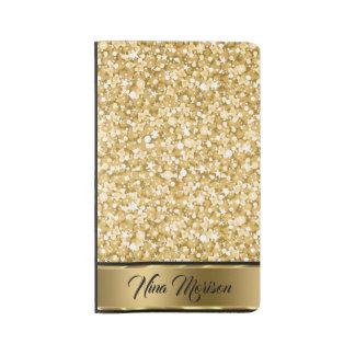Trendy Elegant Gold Glitter Large Moleskine Notebook