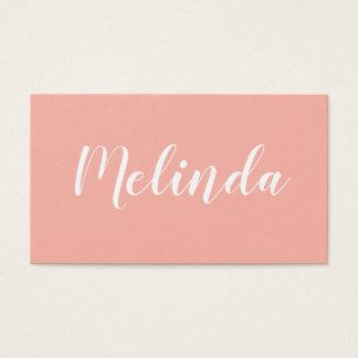 Trendy elegant minimalist modern business card