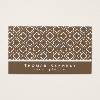 Trendy Elegant Pattern Business Cards Brown