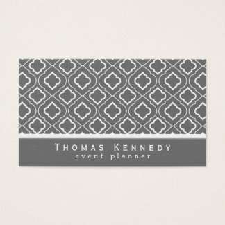 Trendy Elegant Pattern Business Cards Gray
