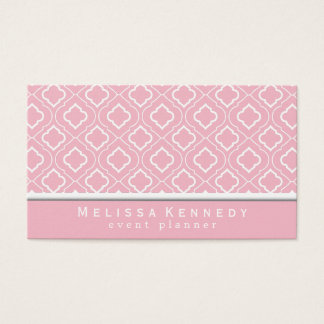 Trendy Elegant Pattern Business Cards Pink