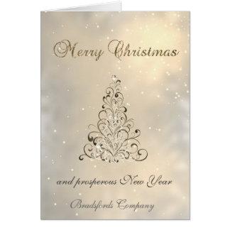 Trendy  Elegant Shiny , Christmas  Tree,Corporate Card