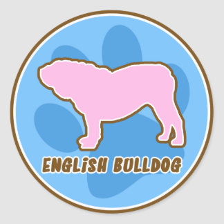 Trendy English Bulldog Round Stickers