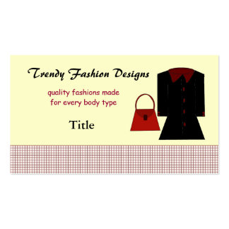 Trendy Fashion Designs Business Business Card