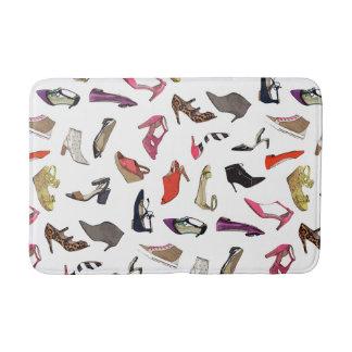 Trendy fashion shoes bathmat rug