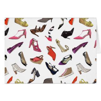 Trendy fashion shoes blank card