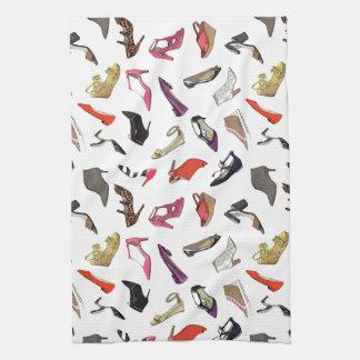Trendy fashion shoes kitchen towel