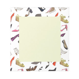 Trendy fashion shoes notepad