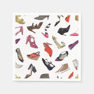 Trendy fashion shoes paper napkins paper napkin