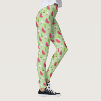 Trendy Fashion Watermelon Novelty Pattern Leggings