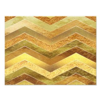 Trendy Faux Gold Foil Chevrons Photo Print
