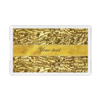 Trendy Faux Gold Foil Zebra Stripes