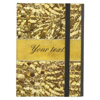 Trendy Faux Gold Foil Zebra Stripes iPad Air Cases