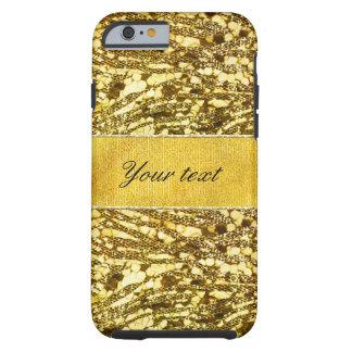 Trendy Faux Gold Foil Zebra Stripes Tough iPhone 6 Case