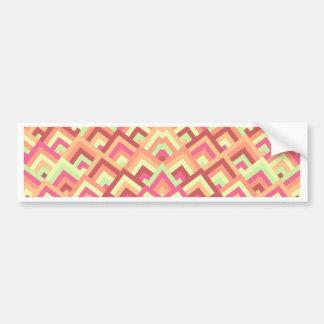 Trendy Feminine Zigzag Symmetric Peeks Pattern Bumper Sticker