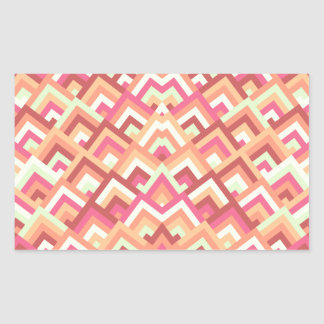 Trendy Feminine Zigzag Symmetric Peeks Pattern Rectangular Sticker