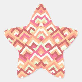 Trendy Feminine Zigzag Symmetric Peeks Pattern Star Sticker