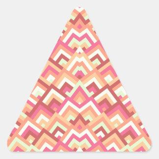 Trendy Feminine Zigzag Symmetric Peeks Pattern Triangle Stickers