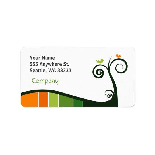 Trendy Floral Address Label