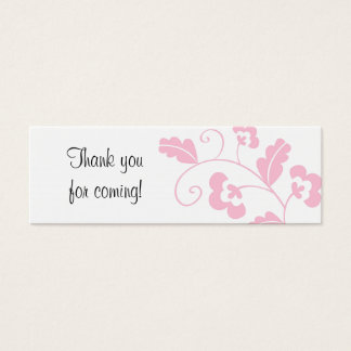 Trendy Floral Bridal Shower Favor Gift Tags Mini Business Card